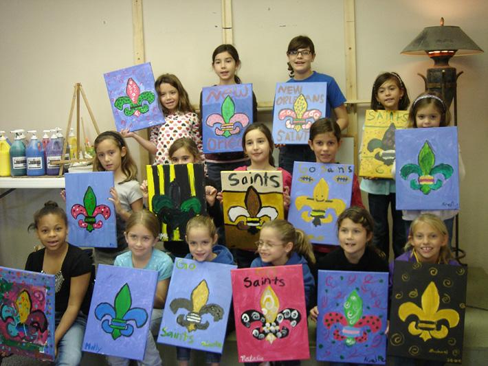Kids parties sip paint parties for Kids paint party